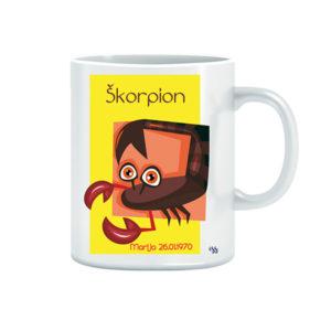 Dizajnerska šalica - horoskopski znak Škorpion (iz serije Astro2)