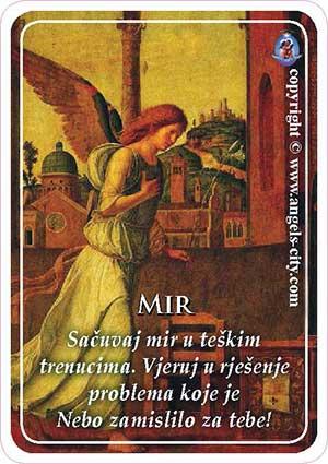 Poruke anđela, Mir